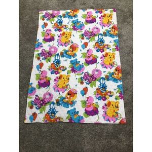 Quilted Baby Blanket 58x41 Animals Handmade